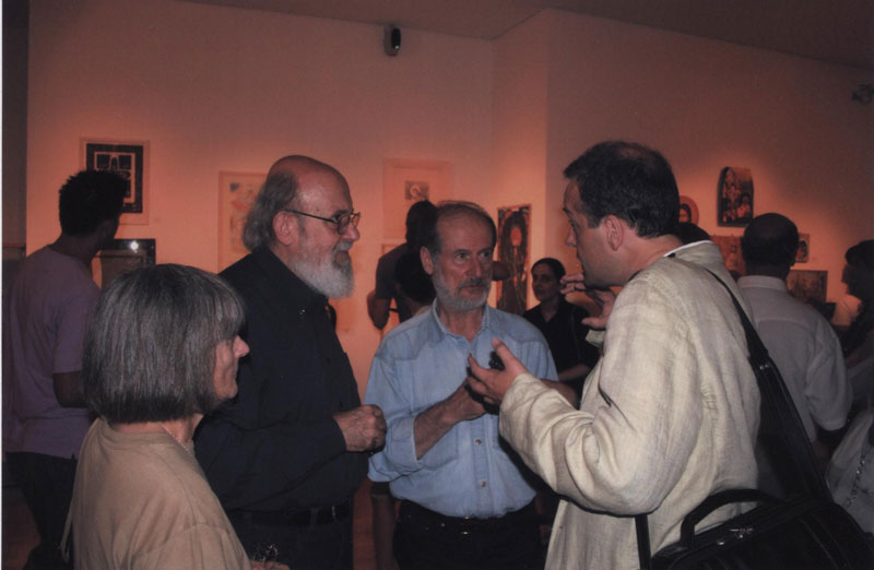 New Benaki Museum 2007 with painters Michael Angelakis and George Nikolakopoulos