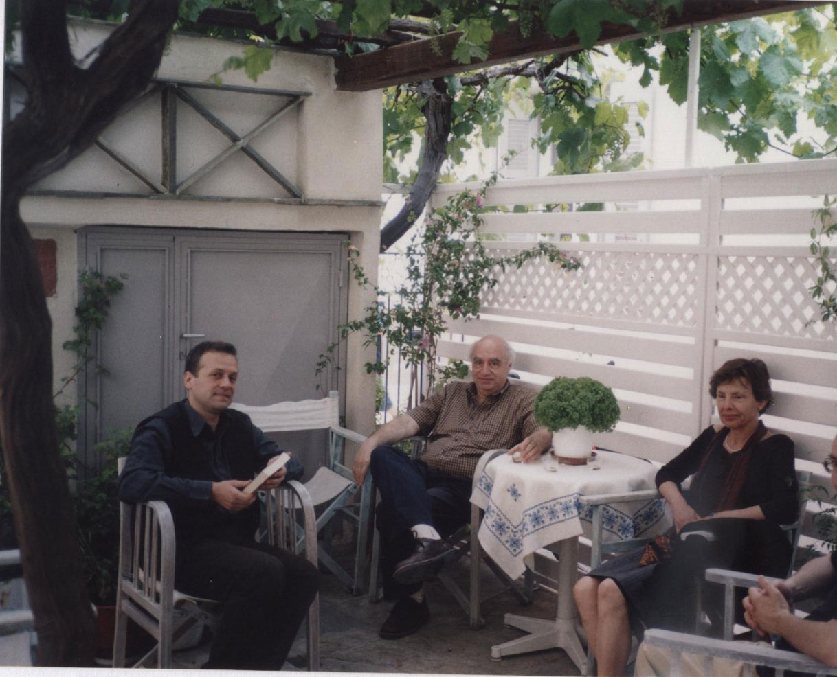 With the author Alexander Kosmatopoulos and the painter Olga Stavridou