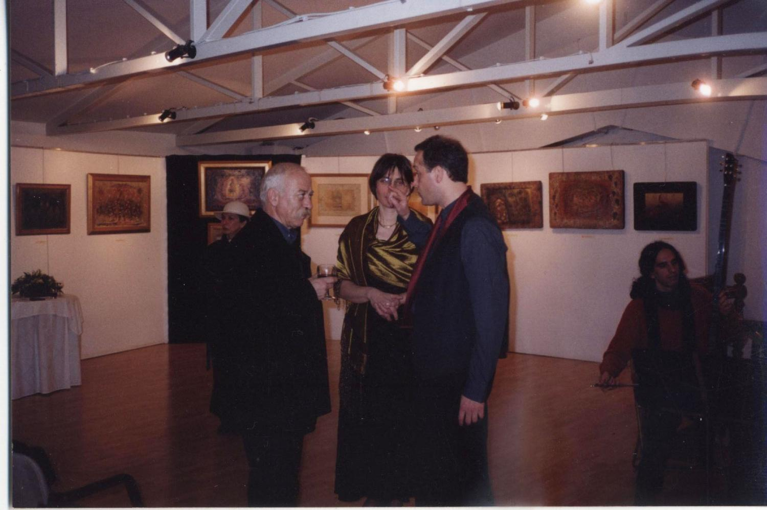 With the Dean and painter Chronis Botsoglou Goulandris-Horn Foundation 2001
